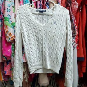 Ralph Lauren white cable sweater Medium